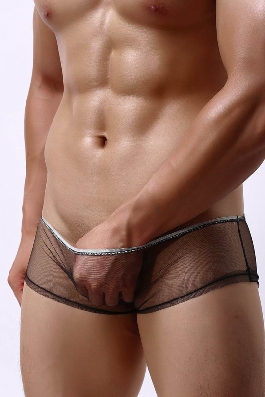Slip noir transparent -...